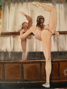 Girl nude acrilico su tela