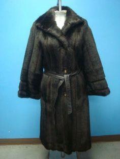 Stylish Long Vintage Mink Faux Fur Coat Full Length Jacket #Handmade #BasicCoat
