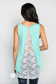 Angela Lace Back Tank Top