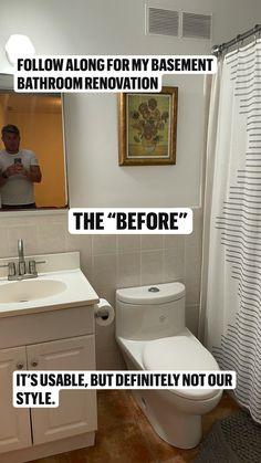 Cheap Bathroom Makeover, Cheap Bathroom Remodel, Budget Bathroom, Master Bathroom, Shower Remodel, Bathroom Renovations, Small Shower Bathroom, Basement Bathroom Ideas, Small Bathroom Vanities