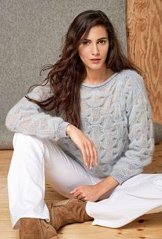 Lana Grossa PULLI IM CLOQUEMUSTER Silkhair/Secondo - LACE No. 6 - Modell 14 | FILATI.cc WebShop