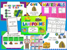 This flipchart lesson has everything you need to teach landforms to your students. It includes over 50 pages of interactivity, along with three pri. Landforms And Bodies Of Water, Teaching Science, Teaching Ideas, Future Classroom, Classroom Ideas, 1st Grade Math, Second Grade, Teacher Hacks, Teacher Stuff