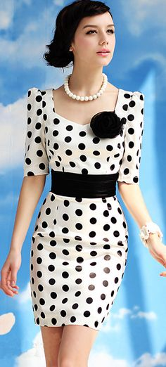 Fashion dress | Polka dot retro dress