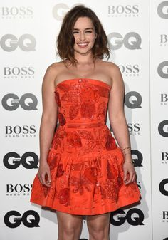 Emilia Clarke attends the GQ Men of the Year Awards at The Royal Opera House on September 8, 2015 in London, England.