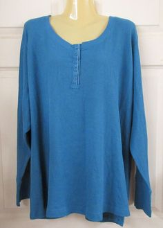 NWOT LANE BRYANT Cacique SLEEP WEAR Teal  100% Cotton Size: 26/28 Pullover  #LANEBRYANT #PullONTOP #Casual