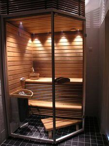 Diy Sauna, Home Spa Room, Spa Rooms, Sauna House, Sauna Room, Saunas, Steam Showers Bathroom, Bathroom Spa, Building A Sauna