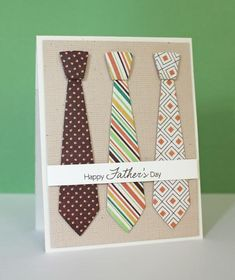 10 Clever DIY Shirt und Krawatte Vatertagskarten - Createsie