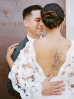 This Bride's Wedding Gown Is A Must-See #refinery29  http://www.refinery29.com/100-layer-cake/49#slide-20  Venue: The Smog Shoppe; Event Planner & Designer: Lovely Jubilee; Hair & Makeup: E2 Beauty; Catering: <a h...