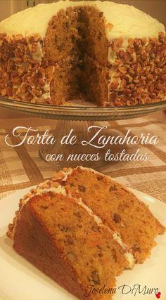 Receta de Torta de Zanahoria con nueces tostadas.