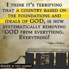 """Very scary! Because The Bible says """" blessed is the nation whose God is the Lord"""". Psalm so how long will America be a blessed nation if we keep taking God out of everything? Christian Life, Christian Quotes, Christian Songs, Bible Quotes, Bible Verses, Faith In God, True Faith, Spiritual Inspiration, Way Of Life"""