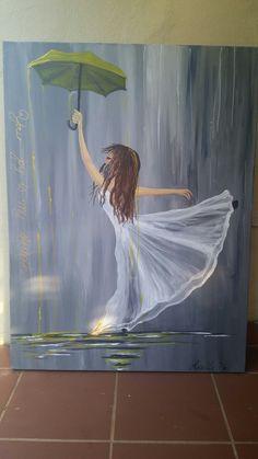 Your joy is my strength ! Umbrella of joy! Prophetic art!