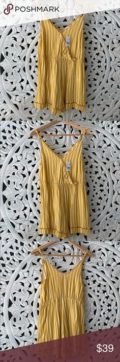 80cfad05bd2 NWT PACSUN Vertical Striped Romper New with tags Lottie Moss from PACSUN  romper Size small 100