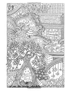 Creative Haven Insanely Intricate Entangled Landscapes Coloring Book by Dr. Angela Porter