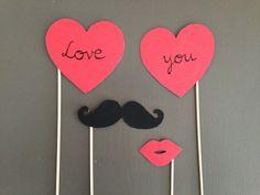 Photobooth mariage, st Valentin - love you : Loisirs créatifs, scrapbooking par crea-graphic