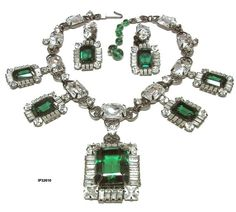Larry Vrba Necklace Earrings Set Vintage by AntiquingOnLine, $850.00