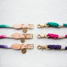 handmade ombre rope dog collars and leads