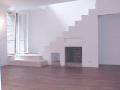 stairs & fireplace