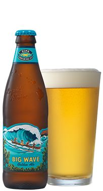 Big Wave Golden Ale Bottle...not your average golden ale. It is tropical vacation in a bottle. Trust me, you will love it for any occasion.
