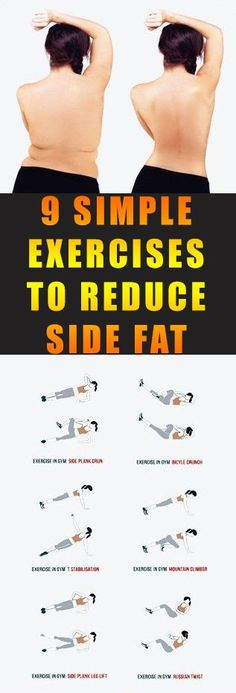 The list of hard works and efforts you can give to reduce side fats.