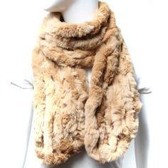 Scarfand's Seven-Line Rabbit Fur Muffler (Camel) Scarfand. $60.00