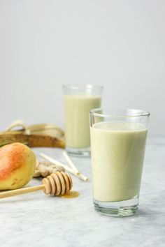 Ginger Pear Kombucha Smoothie | Dairy-Free | Nut-Free