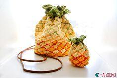Ravelry: Pineapple bag pattern by Ahooka Migurumi