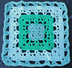 """far pavilion square pattern in crochet, written for 3 sizes: 6"""", 10"""", & 12"""" US terms    square pattern for sale http://www.ravelry.com/patterns/library/far-pavilions-square"""