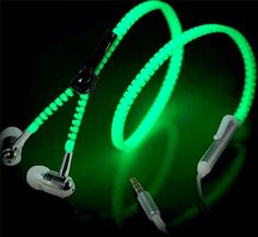 Glow Zipper Headphones - (6 Colors)