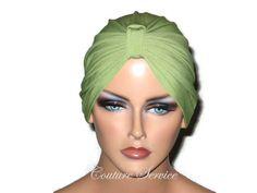 handmade Green Chemo Turban, Olive