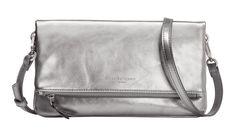 Abendtasche Aloe Liebeskind Silver Lead silber Marshell Metallic Clutch, Shopper, Hobo Bag, Crossover, Aloe, Saddle Bags, Messenger Bag, Chelsea, Satchel