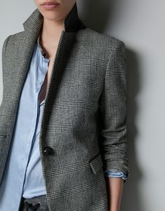 166 CHECKED BLAZER - Blazers - Woman - ZARA United States