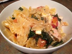 Pasta with Spinach, Tomato, & Feta done