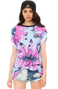 The Sublimated Crystal Tee in Pink by DNA use rep code: OLIVE for 20% off!