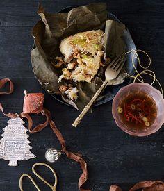 Chinese sticky rice prawn parcels recipe | Prawn recipe - Gourmet Traveller