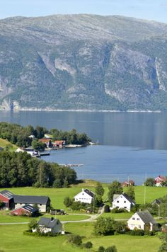 Small towns and villages near the Sognefjord, Norway