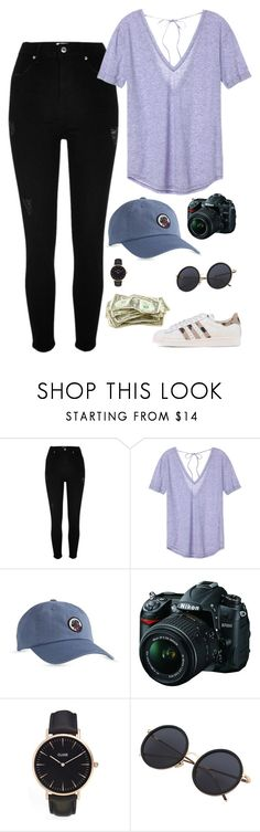 """Sin título #577"" by mary-nava ❤ liked on Polyvore featuring River Island, Victoria's Secret, Southern Proper, Nikon, CLUSE and adidas Originals"