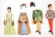 Vintage-OLD-ENGLISH-Paper-Dolls-1967-cut-NEVA-SCHULTZ-Renaissance