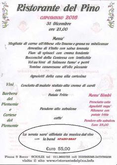 CAPODANNO 2016 CON LA BAND SPAZIO BEAT  Ristorante Del Pino Presenta : CAPODANNO 2016 CON LA BAND `SPAZIO BEAT`  Piazza S. Rocco, Sciolze, TO, Italia