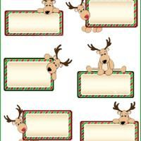 Color your own christmas tags print and user personalized printable reindeer gift tags printable gift cards free printable cards negle Image collections