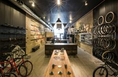 Great case study…Handsome Cycle store by KNOCK, Minneapolis store design Retail Store Design, Retail Shop, Velo Shop, Velo Design, Bicycle Store, Retail Interior, Retail Space, Design Furniture, Shops