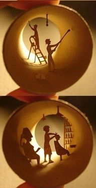 toilet paper roll art. cool!