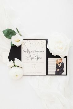 Henderson Nevada, Prom Flowers, Gold Invitations, Spring Wedding, Wedding Stationery, Real Weddings, Place Card Holders, Black And White, Country