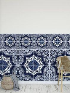 Removable Tile Stickers Blue Portuguese Design Quart Tile | Etsy