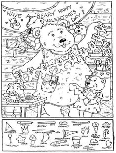 7 Best Images of Valentine Hidden Pictures Printable - Valentine's Printable Hidden Object Puzzles, Printable Spanish Valentine Activities and Valentine's Day Word Search Printable Hidden Object Puzzles, Hidden Picture Puzzles, Hidden Objects, Easter Coloring Sheets, Colouring Pages, Coloring Books, Valentines Word Search, Valentines Day Words, Valentines Day Activities