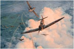 """""""Valiant Response"""" (The Hardest Day, 18th August 1940) by Robert Taylor"""