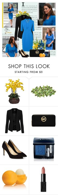 """Kate"" by goharkhanoyan ❤ liked on Polyvore featuring beauty, Vision, Kim Seybert, Topshop, L.K.Bennett, MICHAEL Michael Kors, Hobbs, Christian Dior, Eos and NARS Cosmetics"