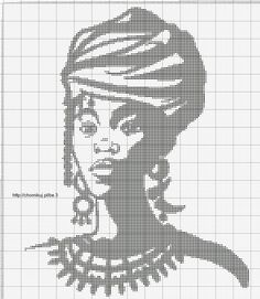 0 point de croix femme africaine turban - cross stitch african woman with turban Cross Stitch Numbers, Cross Stitch Art, Beaded Cross Stitch, Crochet Cross, Filet Crochet, Cross Stitching, Cross Stitch Embroidery, Cross Stitch Patterns, Canvas Art Projects