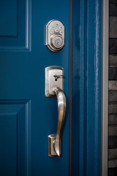 Keypad door locks have tons of benefits. They offer better home security, a keyless entry system, changeable entry codes, and they are even easy to install! If you need a new front door and want to have a keypad door lock, come check us out! We even offer free estimates.  #keypaddoorlock #frontdoor #doorlocks #drontdoorideas