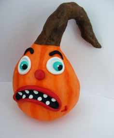 Vintage Style Grumpy Folk Art Pumpkin by seasonsart1031 on Etsy, $25.00