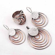 Çılgın Halkalar Rose Gümüş Tasarım Set 870